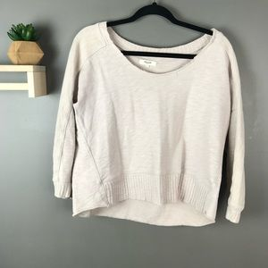 Madewell oatmeal scoop neck sweater size XS